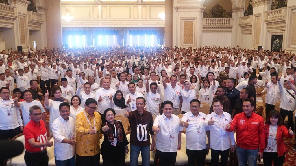Rakernas TKN KIK di Hotel Empire Palace, Surabaya - Medcom.id/Dheri Agrista.