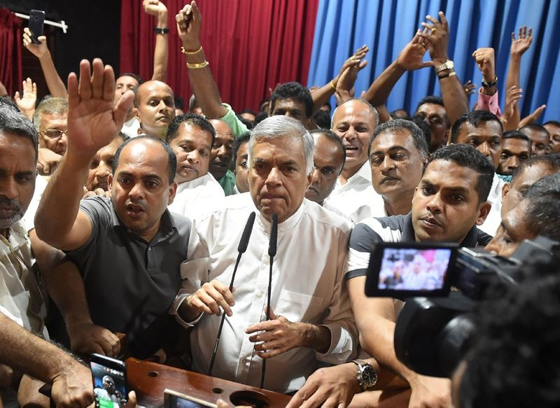 Ranil Wickremesing disingkirkan sebagai Perdana Menteri Sri Lanka. (Foto: AFP).