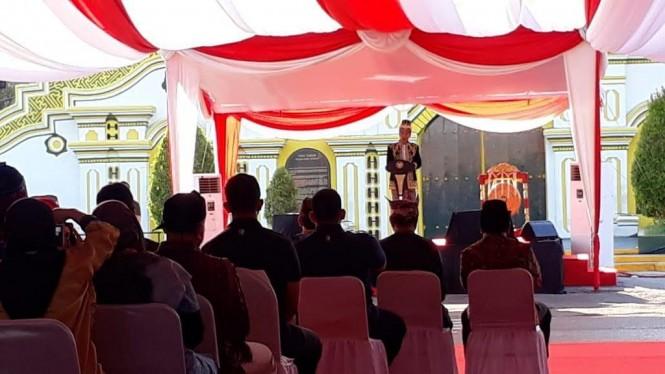 Presiden Joko Widodo membuka acara Festival Keraton Nusantara dan Masyarakat Adat Asia Tenggara ke-V - Medcom.id/Achmad Zulfikar Fazli.