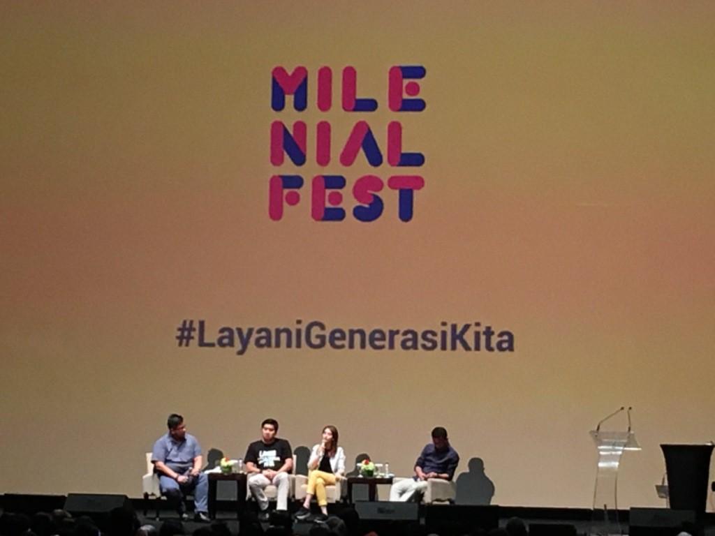 'MilenialFest - 90 Tahun Sumpa Pemuda' di Djakarta Theater, Jakarta Pusat, Minggu, 28 Oktober 2018. (Medcom/Dian)