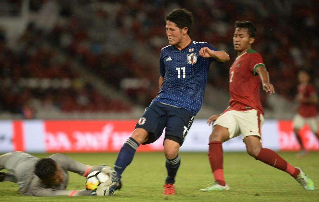 Jepang U-19 mengungguli Indonesia U-19 di babak perempat final Piala Asia U-19 (Foto: Antara/Akbar Nugroho Gumay)