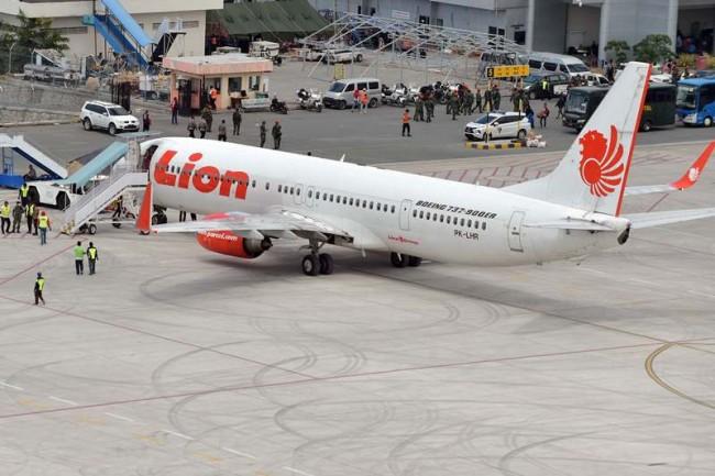 Ilustrasi--Pesawat Lion Air yang terparkir di Sulawesi Tengah. (Foto: AFP).