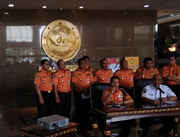 Konfrensi pers Basarnas terkait pesawat Lion Air yang jatuh di perairan Karawang. Foto: Medcom.id/Fachri Audhia Hafiez