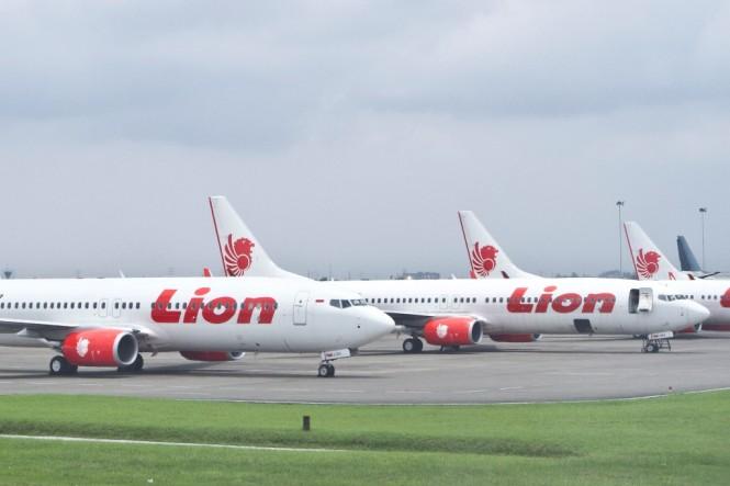 Ilustrasi Lion Air. (FOTO: MI/Atet Dwi)