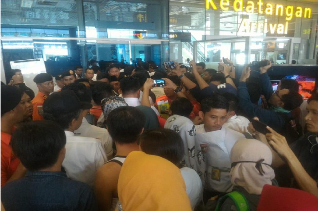 Suasana di Bandara Depati Amir Pangkalpinang setelah Lion Air jatuh dalam penerbangan dari Jakarta-Pangkalpinang, Senin 29 Oktober 2018, MI - Rendy Ferdiansyah