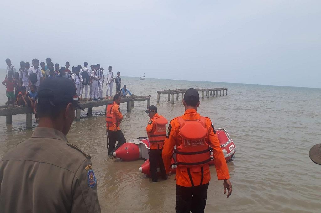 Pencarian korban pesawat Lion Air rute Jakarta-Pangkalpinang di perairan Karawang, Senin, 29 Oktober 2018, MI - Cikwan Iswandi