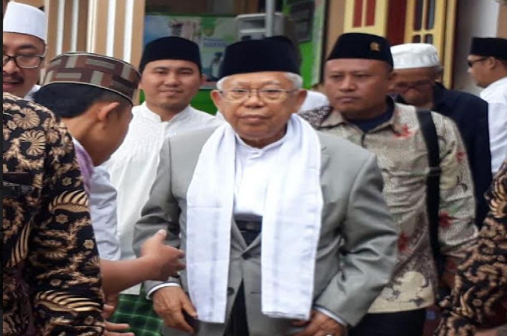 Maruf Amin di Pondok Pesantren An-Nur Bululawang, Kabupaten Malang, Medcom.id - Daviq Umar