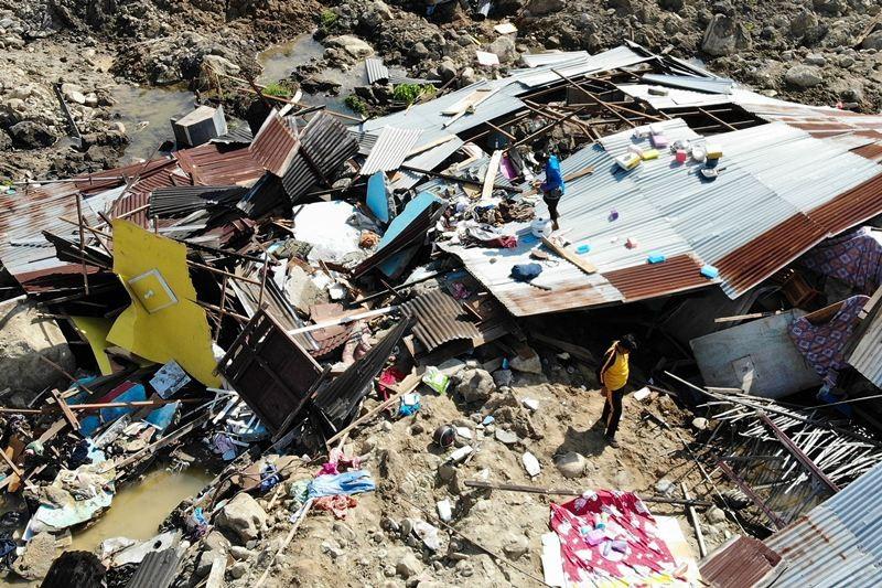 Gempa dan tsunami yang melanda Palu, Sulawesi Tengah beberapa waktu lalu. (Foto: AFP)