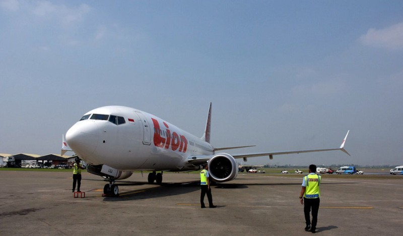 Pesawat Lion Air Boeing 737 Max-8 dengan registrasi PK-LQJ. (Foto: Lion Air Group/Boeing).