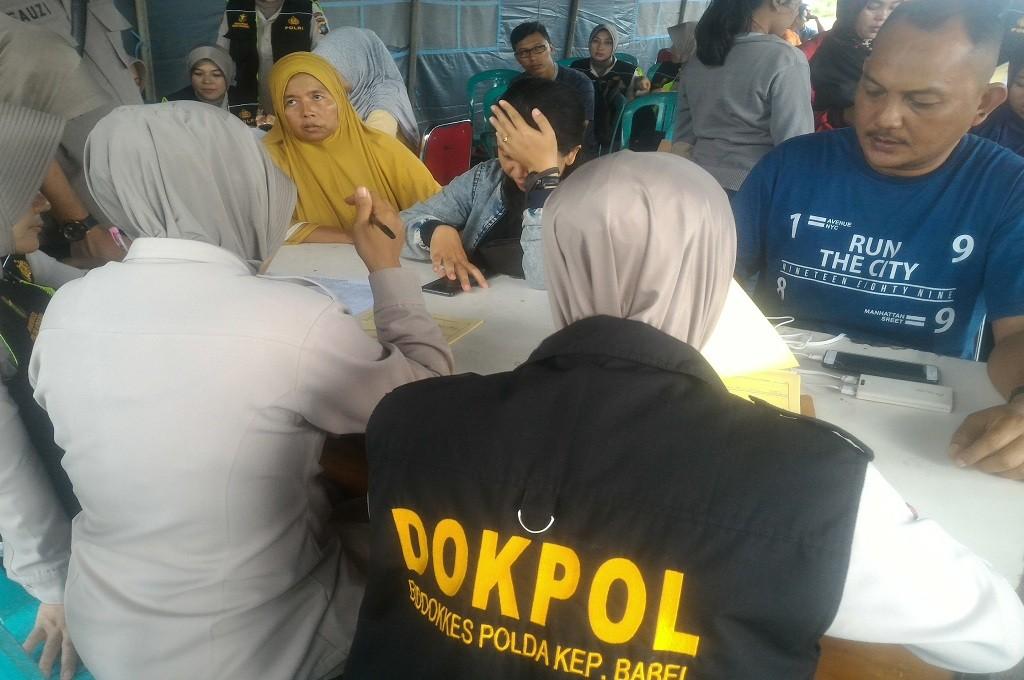 Polda Babel mengambil data antemortem keluarga korban pesawat Lion Air jatuh di perairan Karawang, Senin, 29 Oktober 2018. MI - Rendy Ferdyansyah