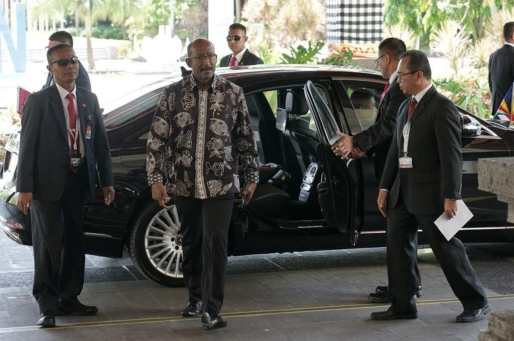 Wapres Seychelles Vincent Meriton (tengah) di OOC 2018 di Bali Nusa Dua Convention Center, 29 Oktober 2018. (Foto: ANTARA FOTO/media OOC 2018/Idhad Zakaria/nym)