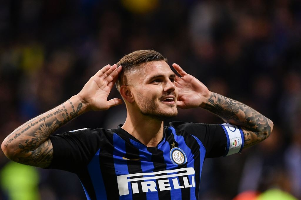 Mauro Icardi. (Photo by Marco BERTORELLO / AFP)