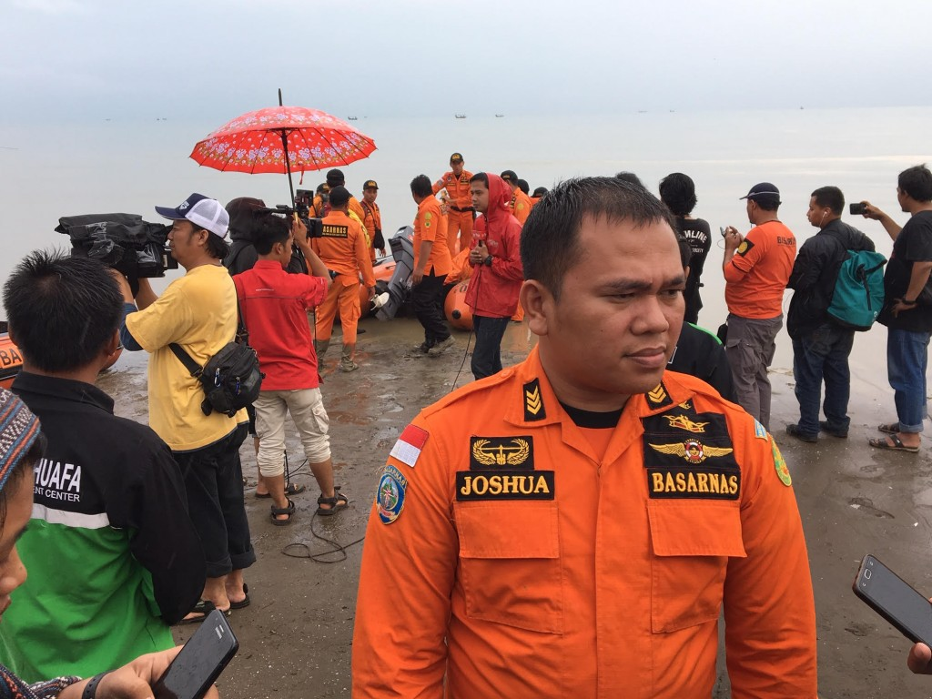 Humas dan Protokoler Basarnas Kantor SAR Bandung, Joshua Banjarnahor. Foto Medcom.id/Sonya.