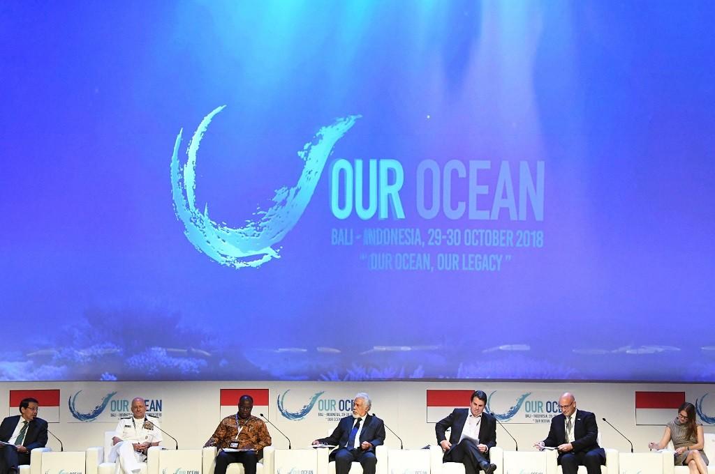 Our Ocean Conference di Bali Nusa Dua Convention Center, 29-30 Oktober 2018. (Foto: ANTARA FOTO/Media OOC 2018/Irsan Mulyadi/tom)