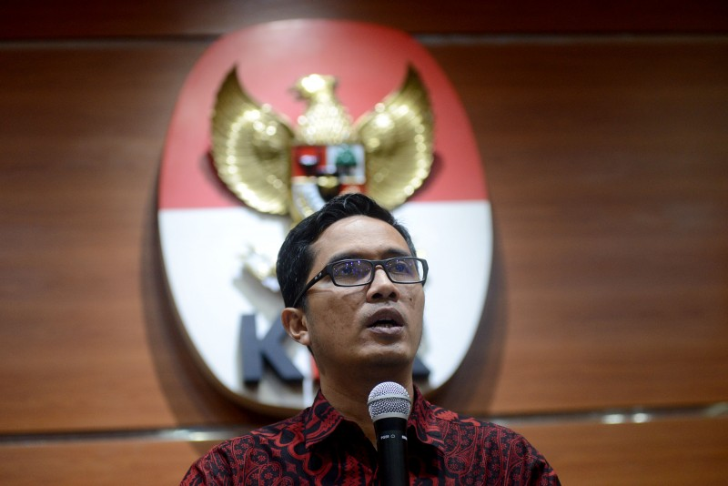 KPK spokesperson Febri Diansyah (Photo:MI/Susanto)