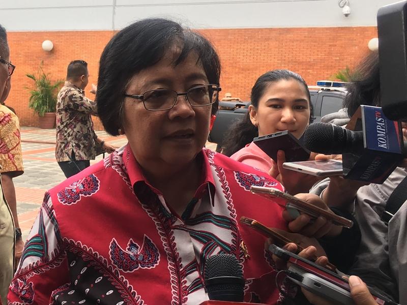 Menteri Pariwisata Kongo bersama Menteri LHK Siti Nurbaya, di VIP Lounge Crisis Center Terminal 1 Bandara Soekarno-Hatta, Selasa 30 Oktober 2018. Medcom.id/Farhan Dwitama