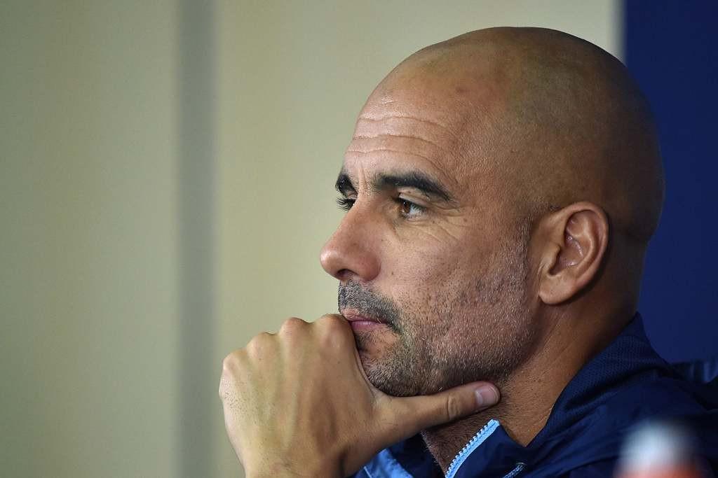 Pelatih Manchester City, Pep Guardiola (AFP/Genya Savilov)