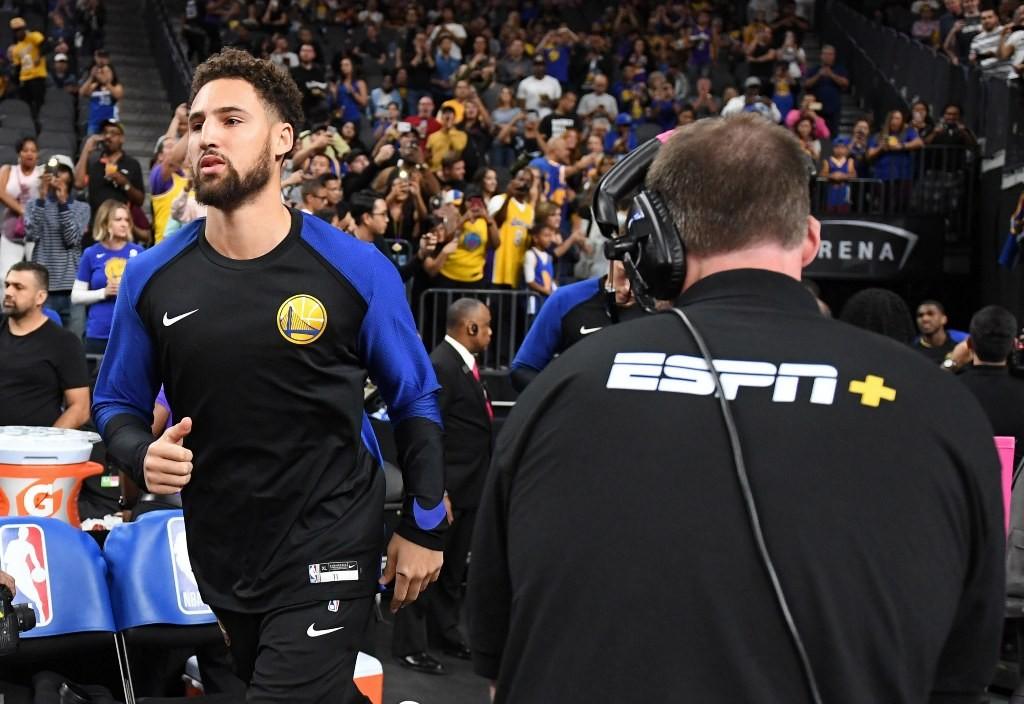 Shooting Guard Golden State Warriors, Klay Thompson (kiri) (AFP/Ethan Miller)