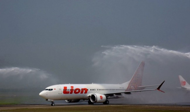 Lion Air's Boeing 737 Max 8 registration PK-LQJ (Photo:Lion Group/Boeing)