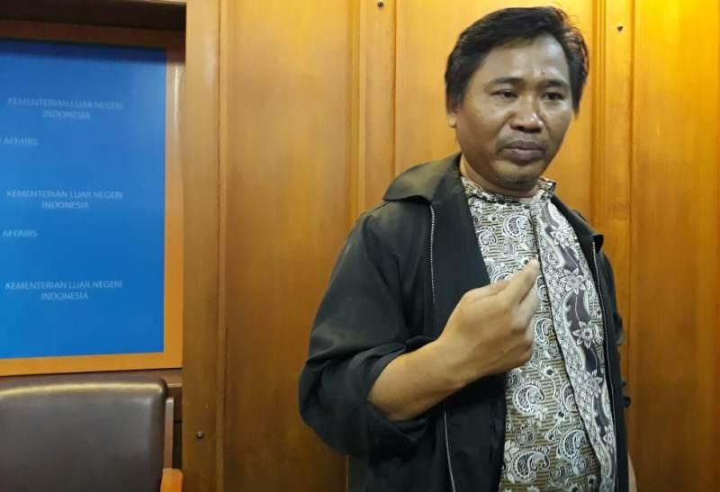 Sekretaris Jenderal Serikat Buruh Migran Indonesia (SBMI) Bobi Anwar Maarif. (Foto: Marcheilla Ariesta/Medcom.id).