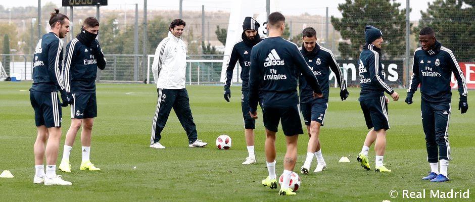 Suasana latihan pertama Real Madrid di bawah arahan Santiago Solari (Foto: Realmadrid.com)