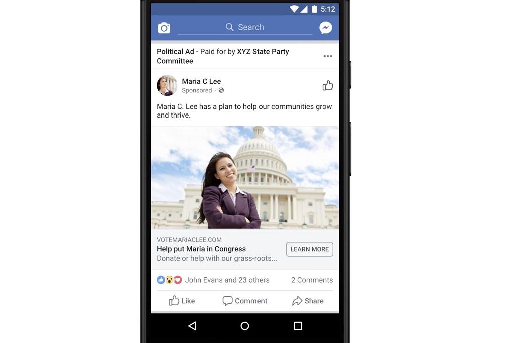 Facebook mengaku memiliki alasan tersendiri untuk tidak memblokir iklan politik.