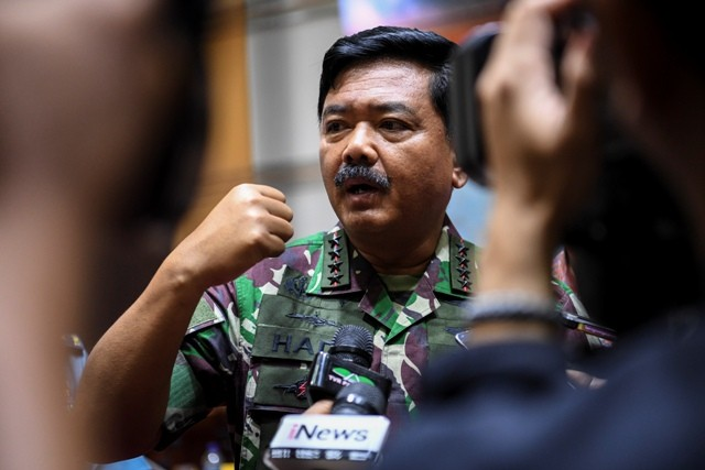 TNI commander Air Chief Marshall Hadi Tjahjanto (Photo:Antara/Hafidz Mubarak)