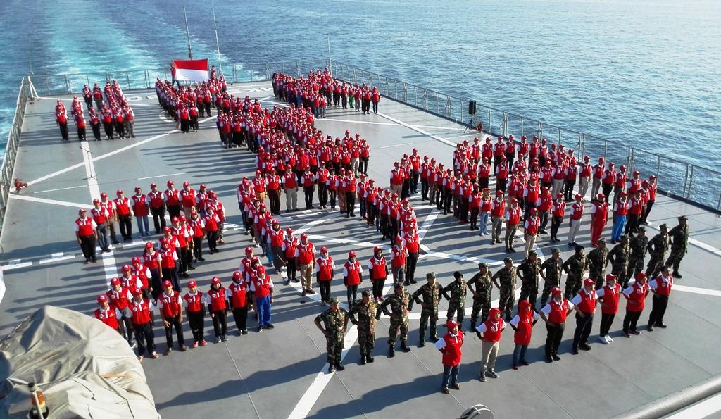 Jelajah Kapal Kepahlawanan diselenggarakan oleh Kemensos bekerja sama dengan TNI AL dalam rangka memperingati Hari Pahlawan (Foto:Medcom.id/Gervin Nathaniel Purba)