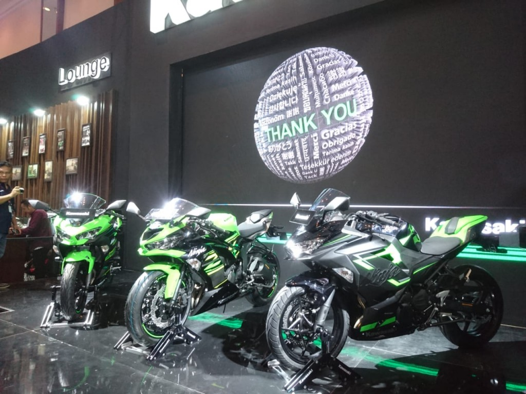 New Kawasaki Ninja 250 model year 2019. Medcom.id/Ekawan Raharja