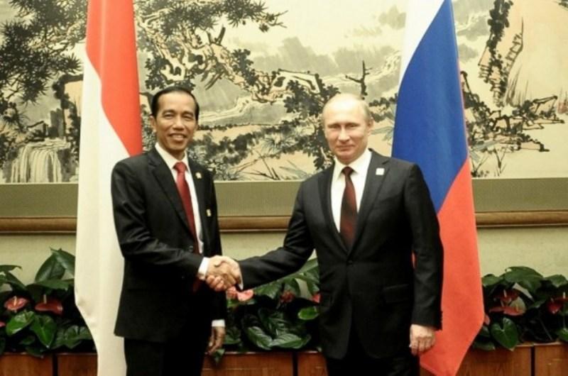 President Joko Widodo and Russian President Vladimir Putin (Photo:AFP)