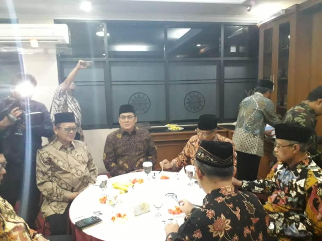 PBNU sowan ke kantor Muhammadiyah di Menteng, Jakarta Pusat - Medcom.id/M Sholahadhin Azhar.