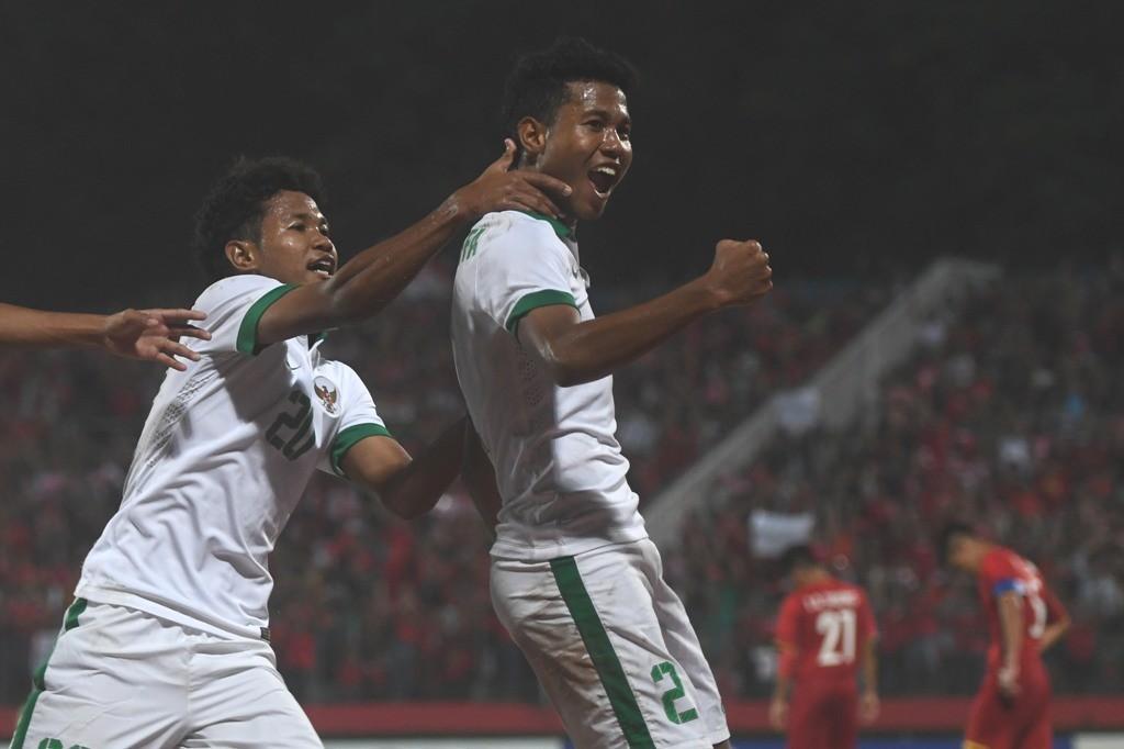 Amirudin Bagus Kahfi (kiri) dan Amiruddin Bagas Kaffa saat memperkuat Timnas Indonesia U-16 (ANTARA FOTO/Zabur Karuru)