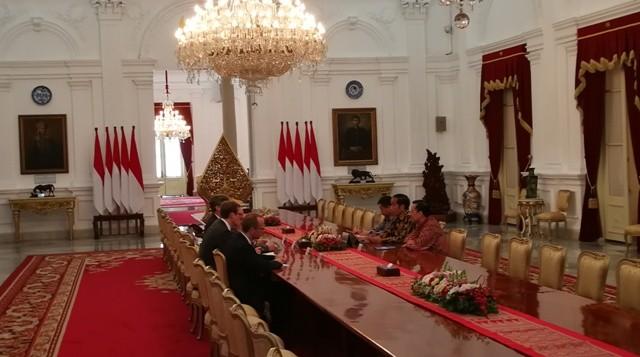 Pertemuan Jokowi Altmaier/Medcom.id/Yogi Bayu Aji