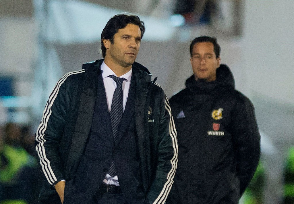Santiago Solari (kiri) (Foto: JORGE GUERRERO / AFP)