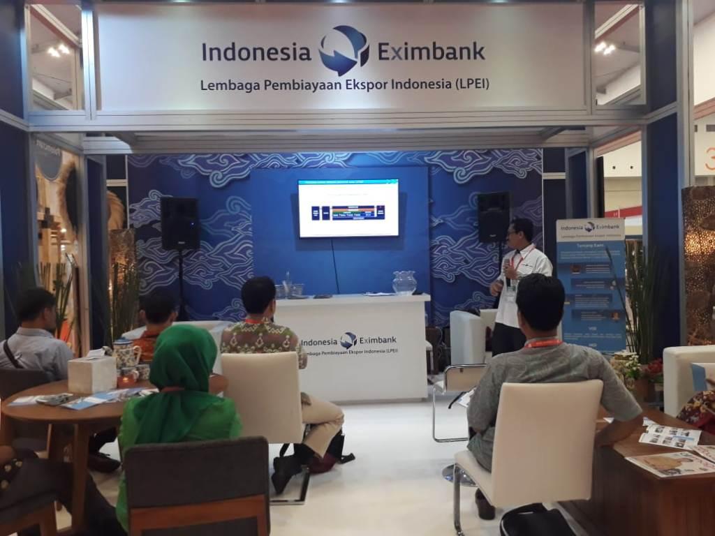 Indonesia Eximbank di TEI 2018. (FOTO: Medcom.id/Ilham Wibowo)