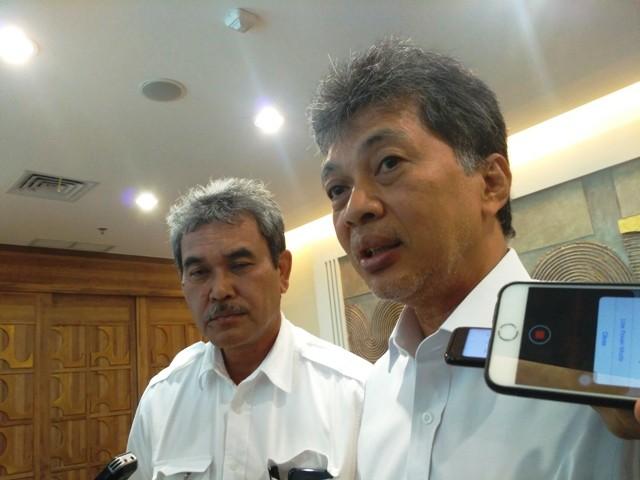Dirjen Sumber Daya Air Kementerian Pekerjaan Umum dan Perumahan Rakyat (PUPR) Hari Suprayogi. Foto: Medcom.id/Nur Azizah.