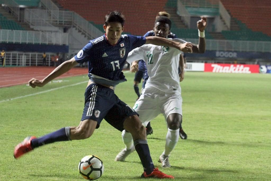 Suasana Laga Piala Asia U-19 2018 antara Jepang vs Arab Saudi (Foto: ANTARA FOTO/Yulius Satria Wijaya)