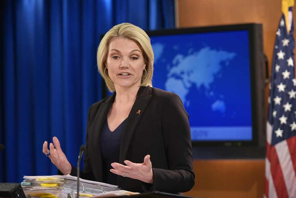 Jubir Kemenlu AS, Heather Nauert. (Foto: AFP)