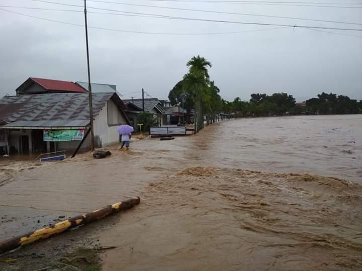 Kawasan Kota Padang, Sumatera Barat, yang terdampak banjir pada Jumat, 2 November 2018. Istimewa/BNPB