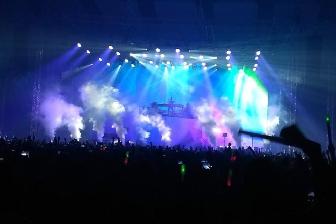 Konser Kygo di Jakarta (Foto: Medcom/Purba)