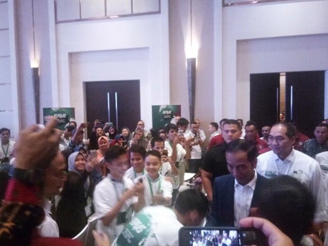 Jokowi menghadiri deklarasi dukungan Repnas/Medcom.id/Fikar