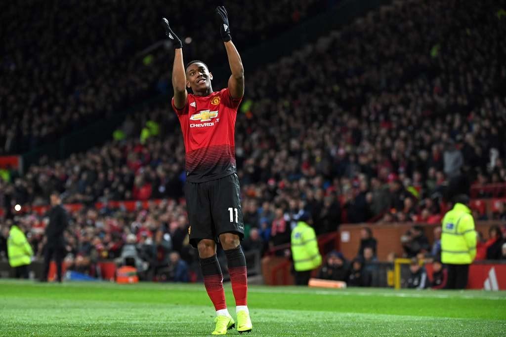 Penyerang Manchester United, Anthony Martial (AFP/Paul Ellis)