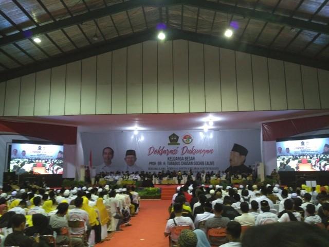Suasana deklarasi dukungan kepada Pasangan Capres Joko Widodo dan Cawapres Ma'aruf Amin di Banten. Foto: Medcom.id/Nur Azizah