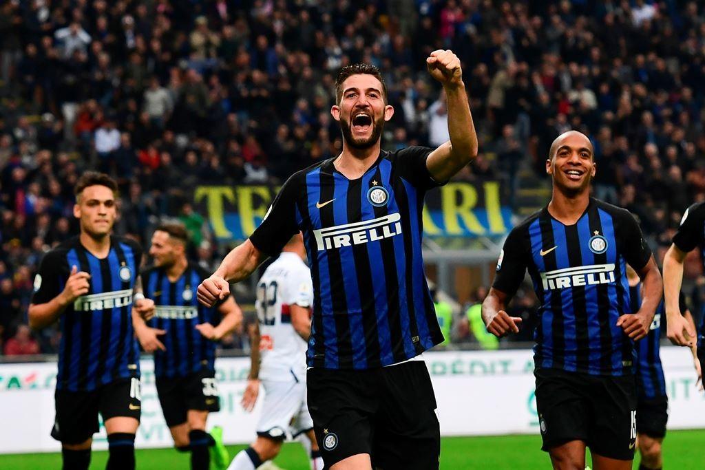 Skuat Inter Milan saat menghadapi Genoa (Foto AFP/MIGUEL MEDINA)