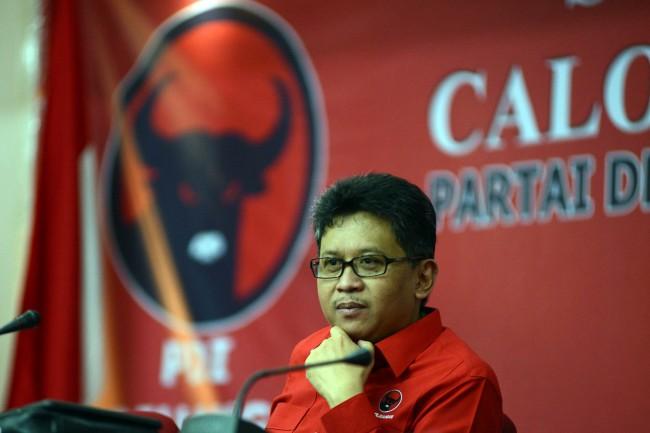 Sekretaris Tim Kampanye Nasional Jokowi-Ma;ruf Hasto Kristiyanto. Foto: MI/Panca Syukrani