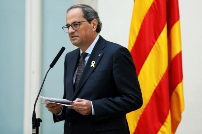 Pemimpin separatis Catalonia Quim Torra. (Foto: AFP / PAU BARRENA)