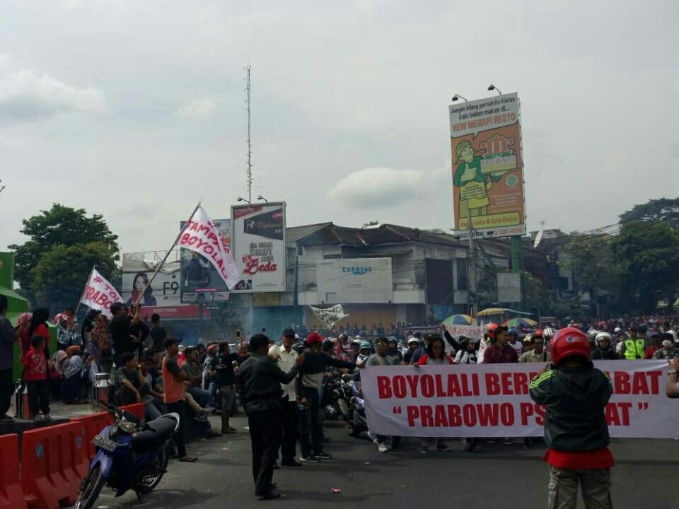 Warga Boyolali berunjuk rasa merespons ucapan Prabowo. Pythag/Medcom.id