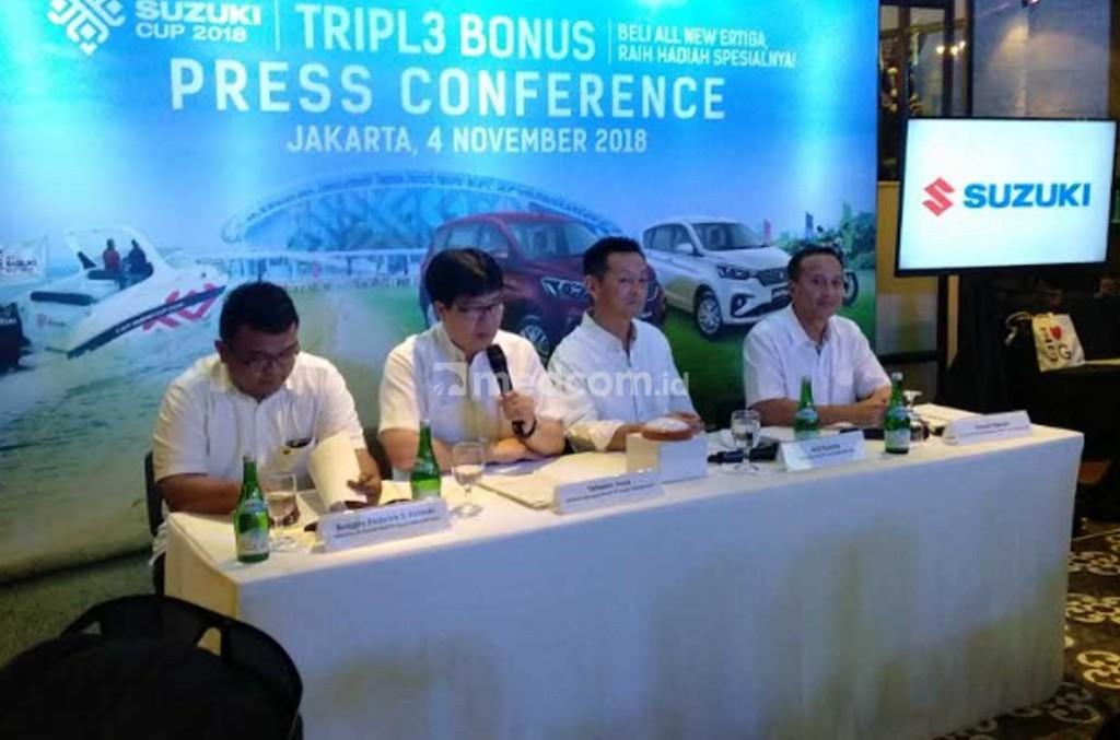 AFF Cup 2018 diharap dongkrak penjualan Suzuki ke depan. Medcom.id/M. Bagus Rachmanto