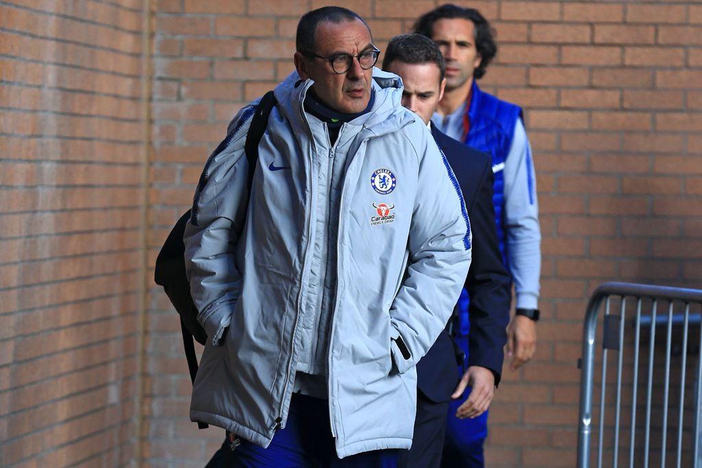 Pelatih Chelsea, Maurizio Sarri (AFP/Lindsey Parnaby)