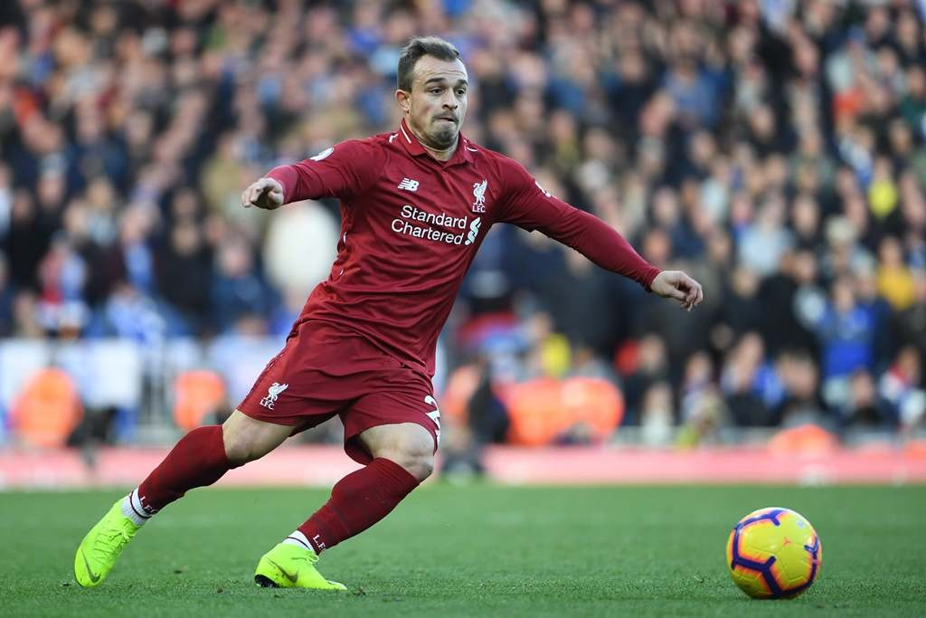 Gelandang Liverpool, Xherdan Shaqiri (AFP/Paul Ellis)